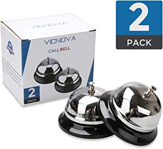 Call Bells, Customer Service Bell, Desk Bell, 3.3 inches Diameter with Pleasant Sound Effect, Durable and Anti-Rust Bellhop Bell for Call Customer Service, Restaurant Games,Hotel Bell, Dinner Bell