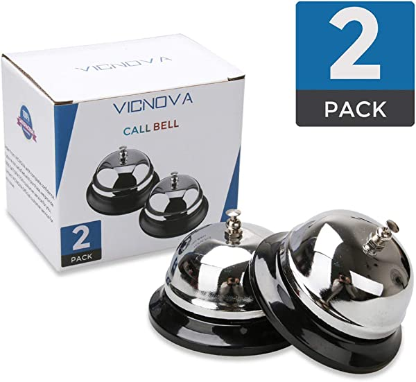 Call Bells Customer Service Bell Desk Bell 3 3 Inches Diameter With Pleasant Sound Effect Durable And Anti Rust Bellhop Bell For Call Customer Service Restaurant Games Hotel Bell Dinner Bell