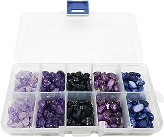 5色芸術宝石ビーズ、天然不規則なチップ、盛り合わせられたゆるいビーズ、水晶エネルギー石、宝石箱の宝石箱のための宝石石ビーズ