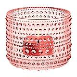 Iittala Kastehelmi Salmon Pink Candle Holder
