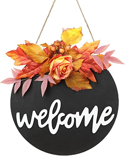 discount Halloween Welcome Sign - Front Door popular Fall Door Hanger, Wooden popular Hanging Plaque Decoration Rustic Wood Farmhouse Autumn Sign for Home Front Porch Decor (Style D) outlet online sale