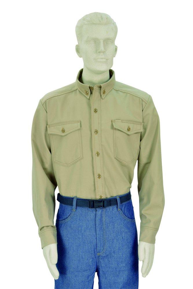 Oberon San Jose Mall Company Max 68% OFF STD-CBW7KH-RXL FRT Shirt Cotton Button-Down X-La