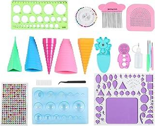 Kit de quilling de papier, kit d'outils de quilling d'artisanat de carte de papier fait à la main avec des pinces à épiler...