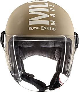 Royal Enfield Matt Desert Storm  Open Face with Visor Helmet Size (XL)60 CM (RRGHEL000069)