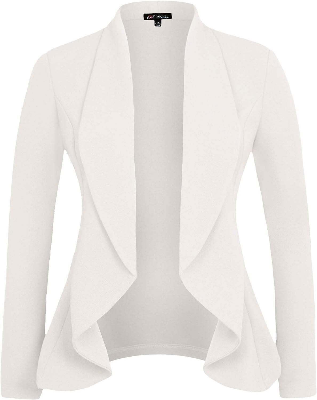 San Antonio Mall Michel Women Long Sleeve Casual Work Color Knit wit Solid Cheap sale Blazer