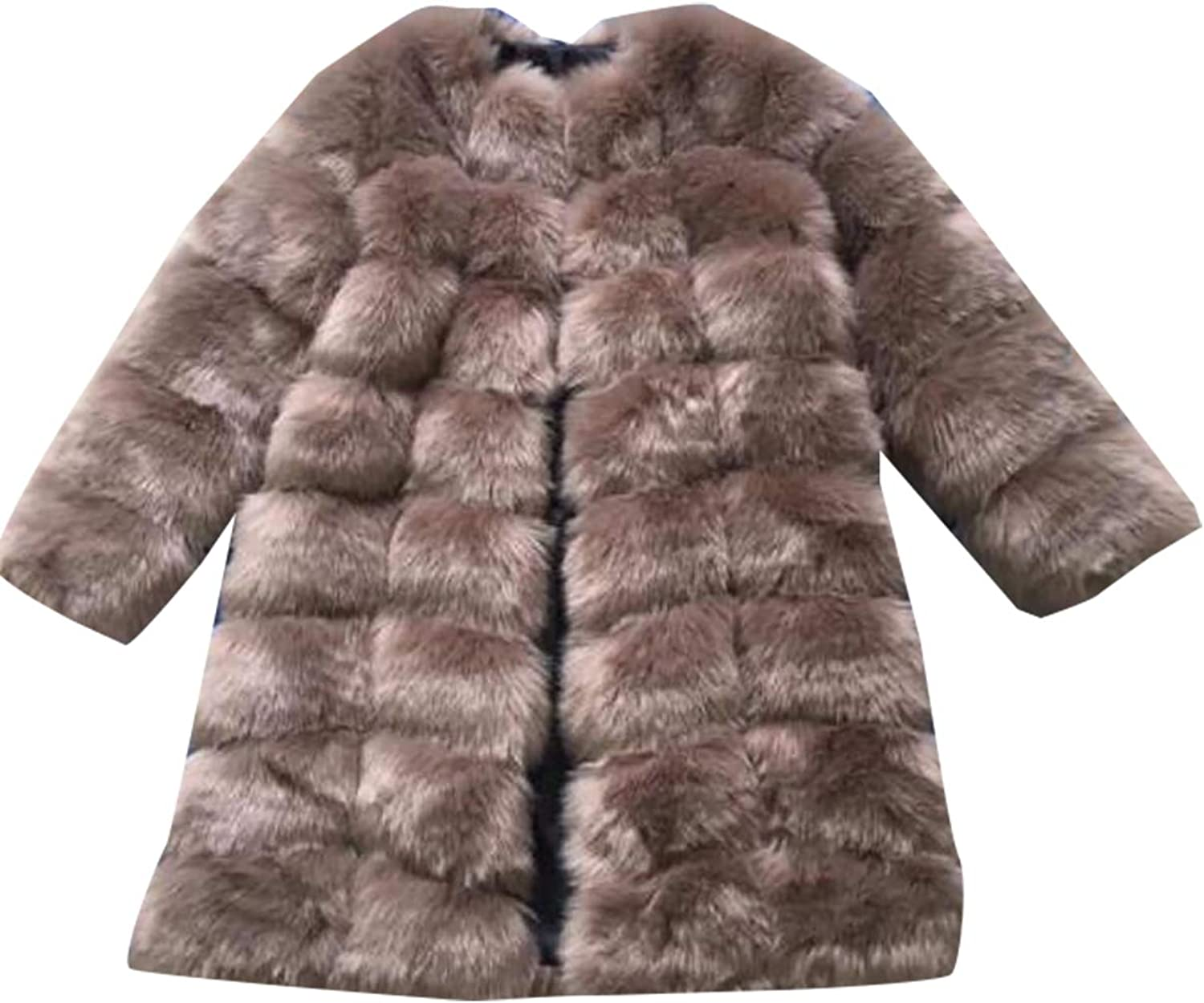 Emastor Womens Faux Fur Coat Trench Outerwear Jacket Parka Overcoat Warm Thick