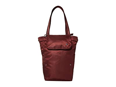 Pacsafe Citysafe CX Packable Anti-Theft Vertical Tote (Merlot) Handbags