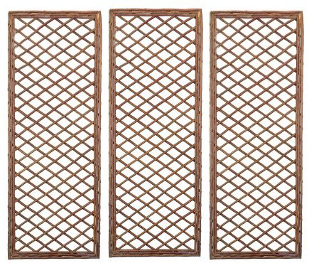 Selections Set of 3 Willow Trellis Framed Panel (120 x 45 Centimeter)