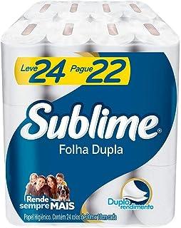 Papel Higiênico Sublime Folha Dupla, 24 rolos