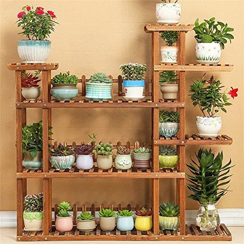 Supports à fleurs en bois massif/Stand Stand simple et élégant salon intérieur à fleurs Bonsai