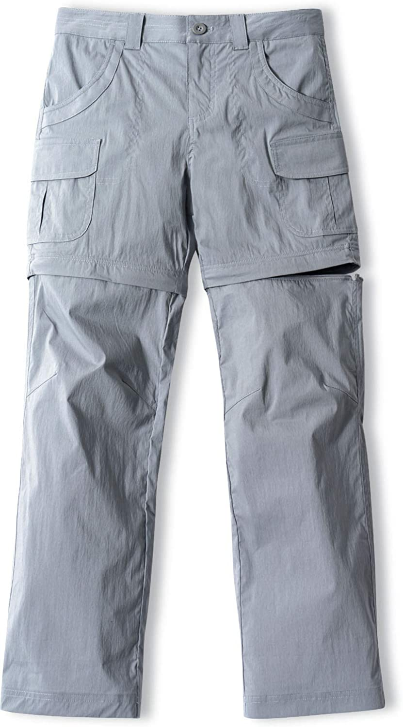 CQR Kids Youth Hiking Cargo Pants Max 62% OFF Dry UPF Ranking TOP11 Convertible 50+ Quick