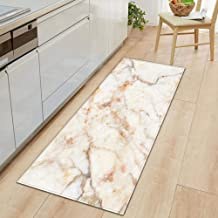Bath Mat Bathroom Carpet,1 PC Anti-Slip Kitchen Carpet Black White Marble Printed Entrance Doormat Floor Mats Carpets for ...
