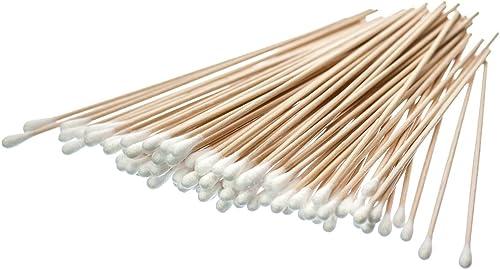 SE CS100-6 Cotton Swab, 100-Piece/Bag, Birch Wood