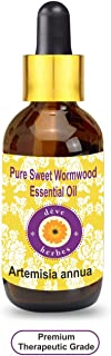 Deve Herbes Pure Sweet Wormwood Essential Oil (Artemisia annua) with Glass Dropper 100% Natural Therapeutic Grade Steam Distilled 30ml (1.01 oz)