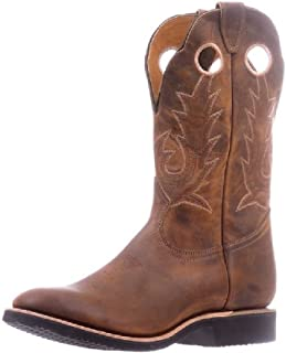 BO-5222-EEE Men's American Boots - Cowboy Boots - Leather - Brown