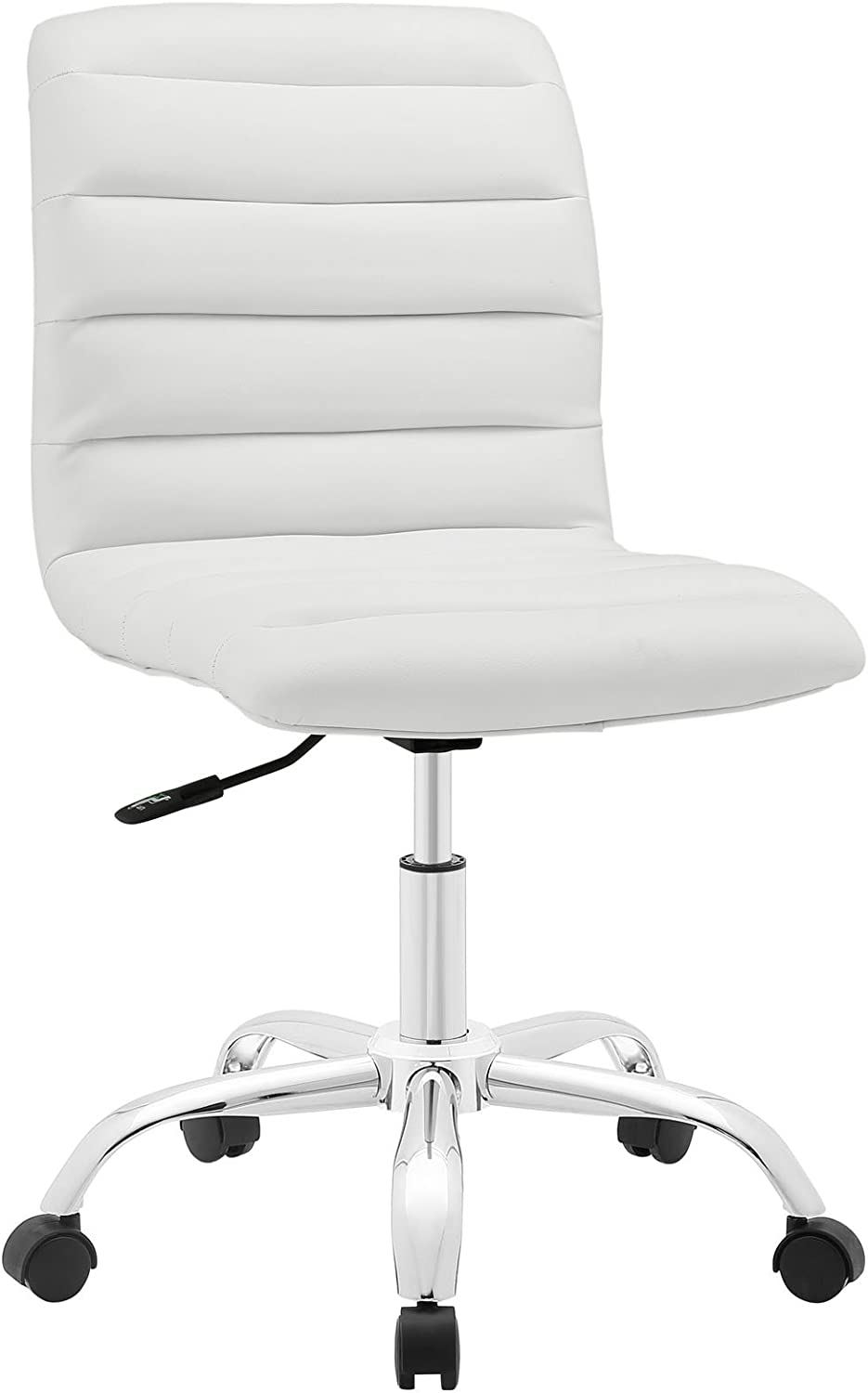 Modway Ripple Mid Back Office Chair, White