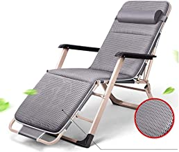 High-quality recliner Deckchair Zero Gravity Chair Garden Adjustable Chaise Recliner, Sun Lounger with Cushion Oversize Zero Gravity Patio Foldable Chair for Heavy Duty People Sun Lounger