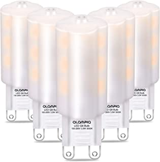 Bombillas LED G9 de 3.5W, Equivalente a 40W Lampara Halógena, Blanco Cálido 3000K 350LM, Sin Parpadeos No Regulable, 360 Grados, AC100-265V Pack de 5 Unidades (3.5)