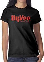 Hy-Vee Image Women Short Sleeve Tee Shirt Cotton Cool Shirt Sports Summer Soft and Comfortable Round Neck Tops