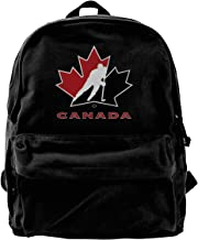Durable Canvas Travel Backpack Portable School Shoulder Bags - Canada National Ice Hockey Team Logo