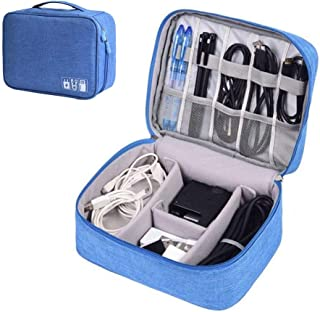 Quaanti Waterproof Cable Organizer Travel Gadget Storage Bag Electronics Devices Accessories Cases USB Charger Holder Digitals Kit Bag