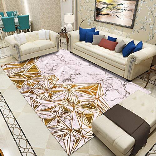 La alfombras Alfombra niños Deslice el patrón de mármol Gris Amarillo Sucio con Alfombra para desvanecimiento alfombras Juveniles para Dormitorio Alfombra Entrada casa 120*170CM