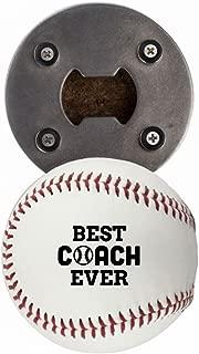 Baseball Coach Gift, Bottle Opene made from a real Baseball, Best Coach Ever, Cap Catcher, Fridge Magnet