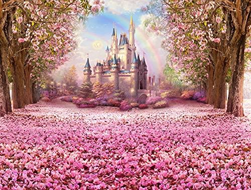 Castillo Palacio telón de Fondo niñas Princesa cumpleaños Foto Fondo recién Nacido niños Retrato Fondo para Estudio fotográfico A6 10x10ft / 3x3m