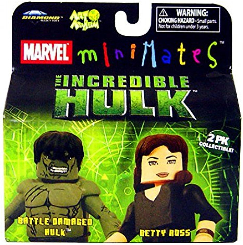 Marvel MiniMates The Incredible Hulk Movie 2Pack Battle Damaged Hulk and Betty Ross