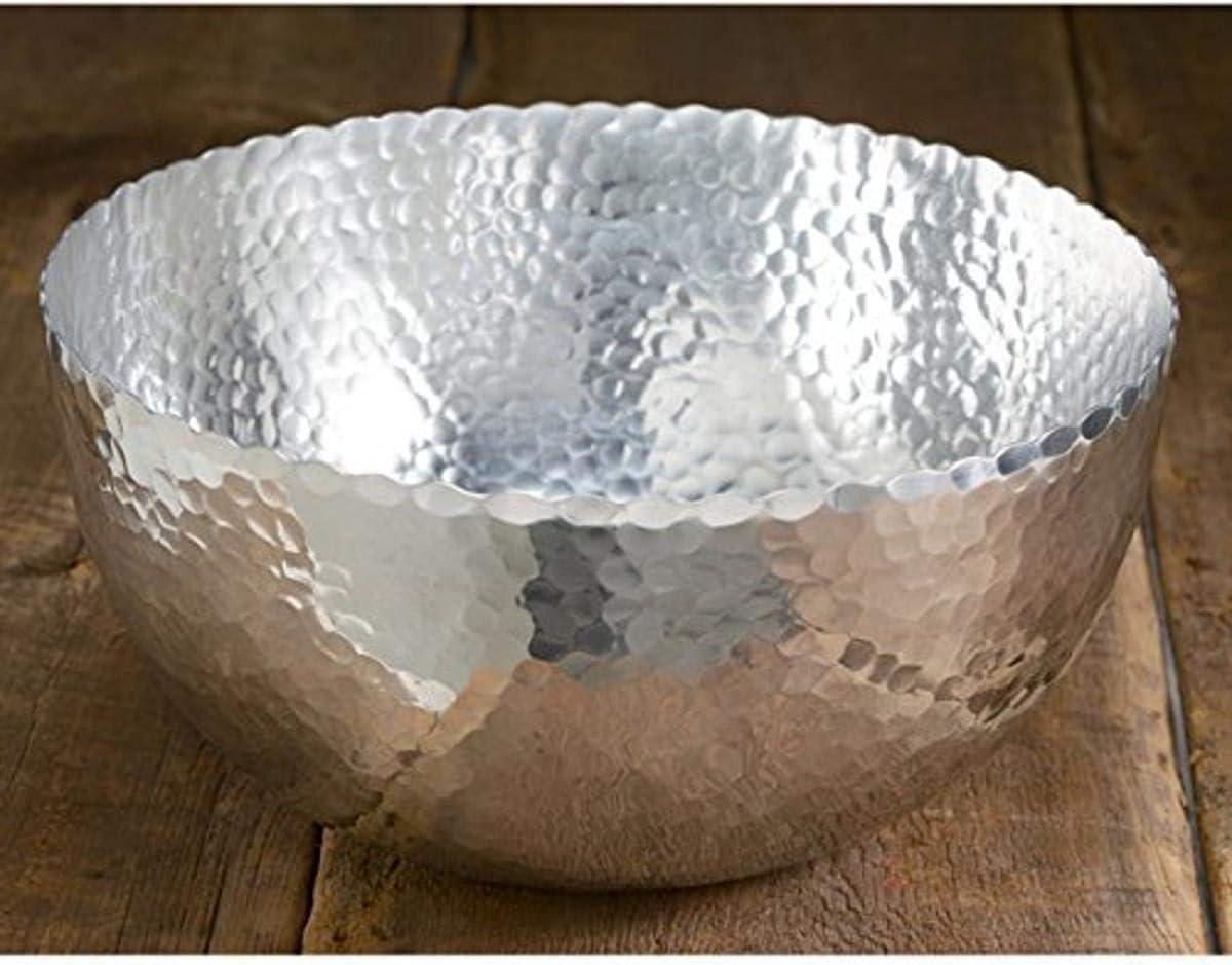 Award KINDWER Minneapolis Mall Hammered Petal Silver Bowl 8x8x4