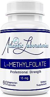 Atlantic Laboratories (5-MTHF) L-Methylfolate 15 mg - 15000 mcg - 60 Vegetarian Capsules - Professional Strength Active Fo...