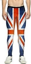 WUXCZP Mens Compression Pants British Flag Tight Leggings Elastic Waist Baselayer Yoga Sports Trousers