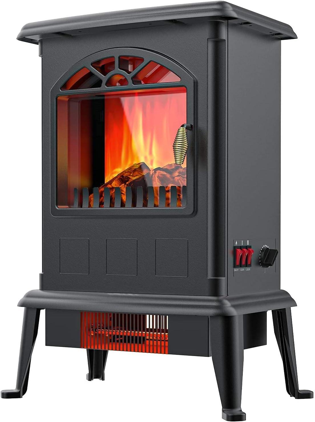 TenaciteeElectric Fireplace Infrared Heater Fir Max 56% OFF Regular dealer Freestanding
