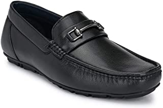Park Avenue Solid Men Black Coloured Synthetic Formal Shoes