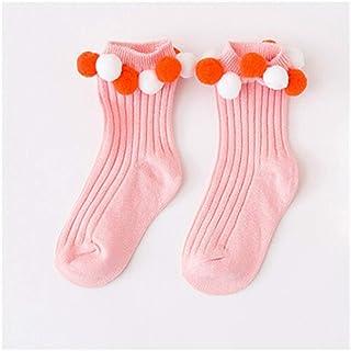 WanXingY, Calcetines más cálidos for niños Calcetines for niños de Alta Rodilla for niñas de algodón Largo de algodón Calcetines de bebé recién Nacidos exquisitos (Color : Rosado, Size : L 7 to 10 Years)
