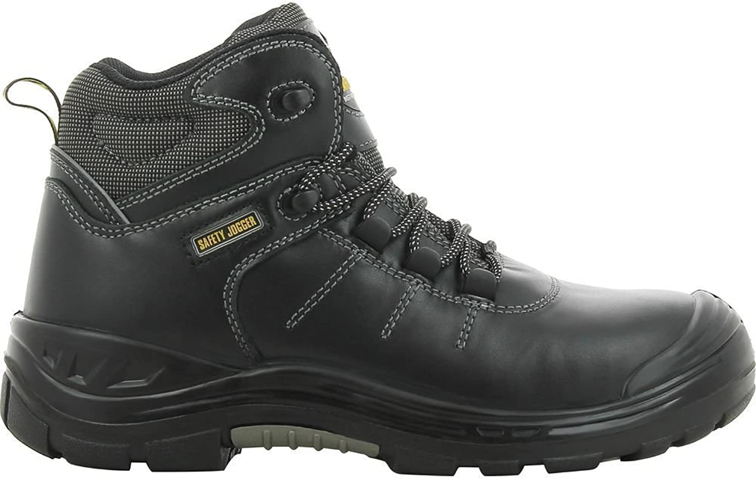 Safety Joggers 'Pulse' S3 SRC CI HRO Metal Free Black Leather Safety Boot