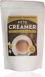 Keto Creamer with MCT Oil, Dairy Free Super Creamer with Vanilla Coconut Sugar, 8 oz Resealable Bag