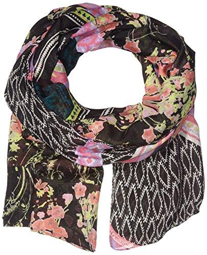 PIECES Damen Pcjoa Long Scarf Umschlagtuch, Mehrfarbig (Black), (Herstellergröße: ONE Size)