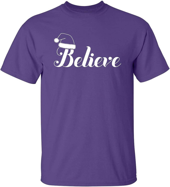 Believe Adult T-Shirt in Purple - XXXXX-Large
