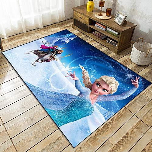 BGHKFF Teppiche Für Wohnzimmer, Shaggy Fluffy Anti-Rutsch-Bereich ELSA 3D Teppich Esszimmer Teppich Home Schlafzimmer Bodenmatte ,Verdicken Rugs,3Dprinting(d)-140 * 200cm