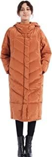 Women's Thickened Down Jacket Puffer Hooded Coat Parka Maxi Length with Double Layer for Warmth