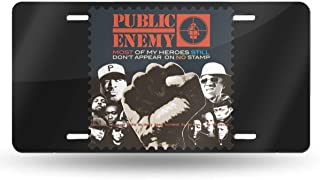Black6red Public Enemy Most of My Heroes Still Don't Appear On No Stamp License Plate Frame Tag Holder 6