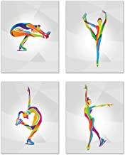 Summit Designs Figure Skating Ice Dancing Wall Art Prints - Set of 4 (8x10) Inch Unframed Poster Photos