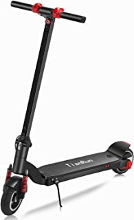 T i anRun 8 inch Electric Scooter, 10-13 Mph, 7-10 Miles, 6000mA Battery, Foldable Commuter, E-Scooter Bicycle Bike, 8
