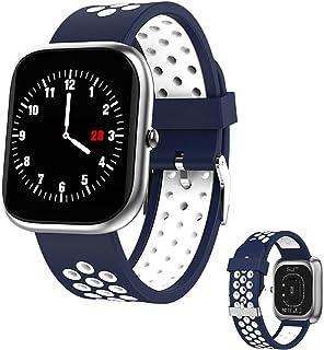 RNNTK Fitness Tracker Dama Smartwatch, Ip67 Es Resistente Al Agua Smartwatch Fitness Tracker Tomar El Marcapasos Monitor De Sueño Reloj Inteligente Bluetooth para iOS Android-Plata