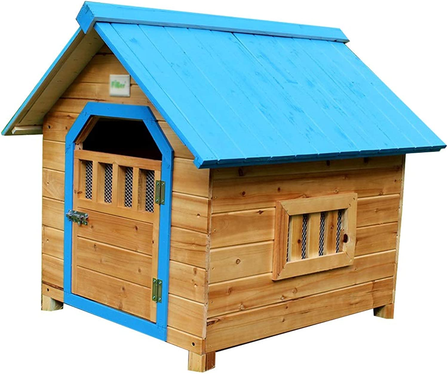 Cages & Pens Doghouse Pet House Cat Cage Indoor Solid Wood Cat Litter Dog Cage Outdoor Garden Solid Wood Rain Dog House Pet Cage Cat Litter Load Bearing 40kg