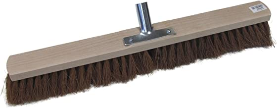 Broom 带Coco Bristles 和木质手柄 — 金属手柄 — 60 厘米 无手柄
