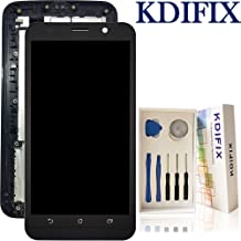 KDIFIX for Asus Zenfone 2 / ZE551ML / Z00AD / Z00ADB / Z00ADA LCD Touch Screen Assembly + Frame with Full Professional Repair Tools kit (Black+Frame)