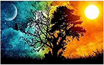 Ukerdo Day & Night Tree Picture Arts Home Wall Décor DIY Diamond Painting Kits Embroidery Full Drill for Gift