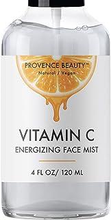 Vitamin-C Face Mist and Setting Spray - Enhanced with Hyaluronic Acid, Aloe Vera and Rose Water - Skin Brightening, Moistu...